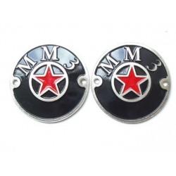 Tank badges, MMZ, pair