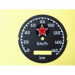 Custom speedometer plate M72