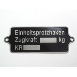 """plate """"Einheitsprotzhaken..."""