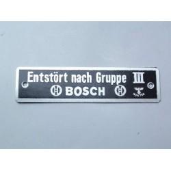 """plate """"Entstort nach Gruppe..."""