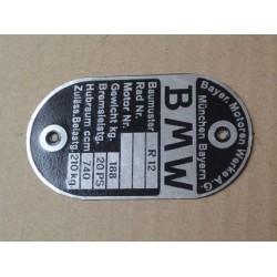 ID plate, BMW R12