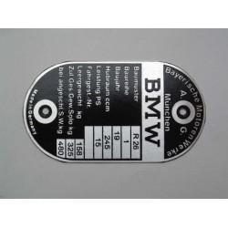ID plate  BMW [ R26 ]