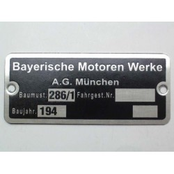"""ID plate """" Bayerische..."""