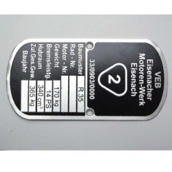 ID plate EMW R35