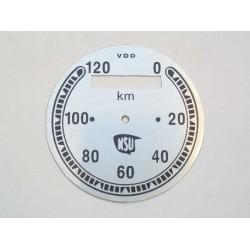 Speedo plate, NSU, D 76 mm