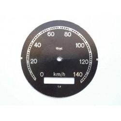 Speedo plate, Veigel, D 78 mm