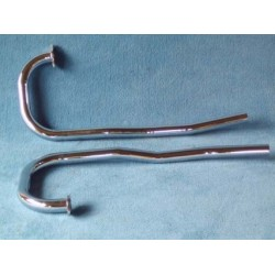 Exhaust pipes, Cr, pair,...