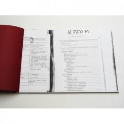 Owners manual K750M