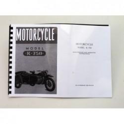 Owners manual K750, english...