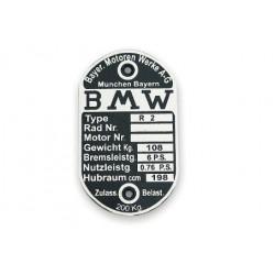 ID plate BMW [ R2 ]