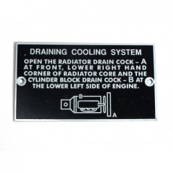 ID plate, Draining cooling...