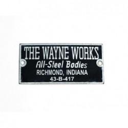 ID plate, The Wayne Works