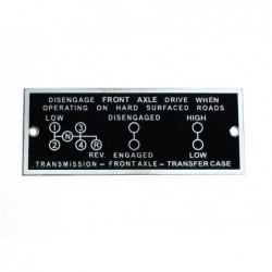 ID plate, 89 x 36 mm