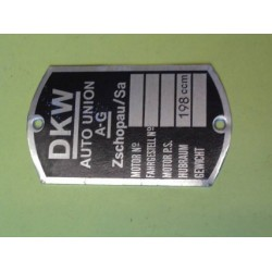 ID plate, DKW