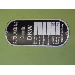 ID plate DKW