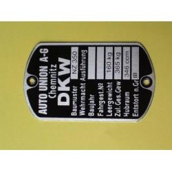 ID plate,DKW NZ350