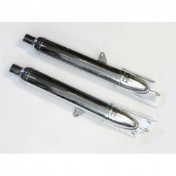 exhaust silencers, pair,...