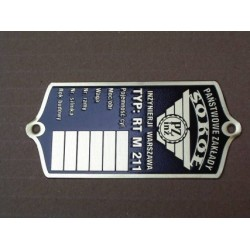 Sokol 600RT ID plate