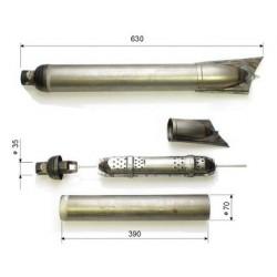 3-part silencer, 35 mm...